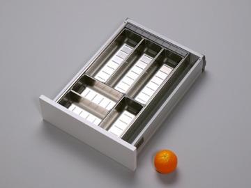 besteckeinsatz besteckschublade mit 6 edelstahlschalen im geschirrsp ler waschbar. Black Bedroom Furniture Sets. Home Design Ideas