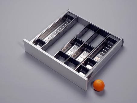 orgalux einteilungsystem orga line besteckeinsatz edelstahl f r 55er oder 60er schubladen. Black Bedroom Furniture Sets. Home Design Ideas