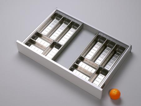 orgalux einteilungsystem orga line besteckeinsatz mit metallschalen verstellbar anwendung in. Black Bedroom Furniture Sets. Home Design Ideas